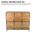 アデペシュ a depeche カデル レコードラック 3×2 収納家具