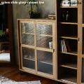 シェルフ スプレム スライドガラスキャビネットロー アイアン 食器棚 本棚