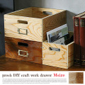 収納ボックス プロック DIY クラフト ワーク ドロワー Mサイズ ボックス 箱 木製 見せる収納 ディスプレイボックス 引き出し