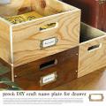 収納ボックス プロック DIY クラフト ネームプレート フォー ドロワー ボックス 箱 木製 見せる収納 ディスプレイボックス 引き出し