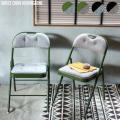 インテリア ディレクト チェア ヘリンボーン 折り畳み 椅子 チェア パイプイス ダイニングチェア