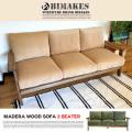 マデラウッドソファ スリーシーター BIMAKES 全2色 送料無料
