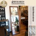 SOLID WOOD MIRROR(ソリッドウッドミラー) BIMAKES 全2色 送料無料