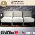 3人掛けソファ デイトンジャンクション3Pソファ ヴィンテージオリーブ DAYTON JCN 3P SOFA Vintage-Olive ビメイクス BIMAKES