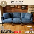 3人掛けソファ デイトンジャンクション アーム3P ソファ ヴィンテージオリーブ DAYTON JCN ARM3P SOFA Vintage-Olive ビメイクス BIMAKES