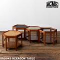 サイドテーブル ブルックス ヘキサゴン テーブル ベッドサイドテーブル コーヒーテーブル