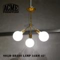照明 ソリッドブラスランプ 3アーム45 シーリングライト