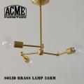照明 ソリッドブラスランプ 3アーム シーリングライト