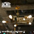 照明 ソリッドブラスランプ 5アーム シーリングライト