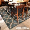 ラグ ラインズ ラグ 2000×2000 絨毯 じゅうたん カーペット