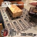 ラグ オーバーショット ラグ 2000×1400 絨毯 じゅうたん カーペット