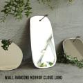 ミラー ウォール ハンギング ミラー クラウド ロング 鏡 壁掛け オーバル 縦型