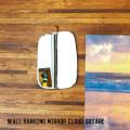 ミラー ウォール ハンギング ミラー クラウド スクエア鏡 壁掛け ラウンド スクエア型