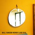 ミラー ウォール ハンギング ミラー クラウド オーバル鏡 壁掛け ラウンド 楕円型