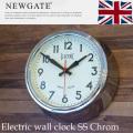 Electric wall clock SS chrom(ウォールクロックSS クローム) 掛け時計