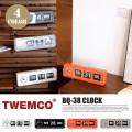 クロック CLOCK BQ-38 置き時計 トゥエンコ TWEMCO
