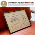 LOCO MOTIVE DRAWING(ロコモティブドローイング) 鉄道図面 NO.16082287