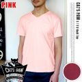 CAT'S PAW(キャッツポウ)S/S Vネック 半袖Tシャツ ピンク・4サイズ