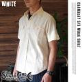 SUGAR CANEホワイトシャンブレーワークシャツ 4サイズ