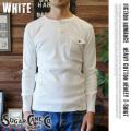 SUGAR CANE「FICTION ROMANCE」ヘビーコットンヘンリーネックシャツ ホワイト