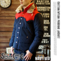 COTTON/NYLON PADDING JACKET NAVY
