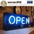 ネオンサイン オープン(NEON SIGN OPEN) 置き掛け兼用サインライト
