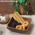 アカシア スクエアボウルM 150×150×50mm 木製 食器 皿 ボウル とりわけ皿