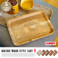 Vintage Wood Style Tray S(ヴィンテージウッド調トレーS) CAMBRO