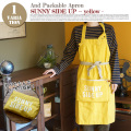 AND PACKABLE APRON(アンドパッカブルエプロン) サニーサイドアップイエロー