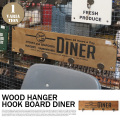 WOOD HANGER HOOK BOARD DINER  101227