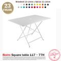 Bistro Square Table 117・77H(スクエアテーブル117・77H) ホワイト