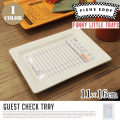 Fishs Eddy Guest Check Tray