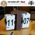 FLIP CLOCK LUFT(フリップクロック ルフト) パタパタクロック 時計 WOOD
