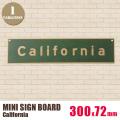 ミニサインボード「California」
