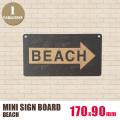 ミニサインボード「BEACH」