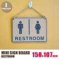 MINI SIGN BOARD(ミニサインボード)「RESTROOM」
