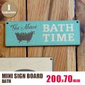 MINI SIGN BOARD(ミニサインボード)「BATH」