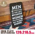 IRON PLATE MEN LEFT WOMEN RIGHT(アイアンプレート)