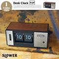 DESK CLOCK Bradham FLIP(デスククロックブラハムフリップ)  SLW129 置時計 卓上