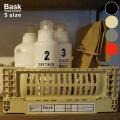 収納 バスク フォールディングコンテナ スモール 収納ボックス 折り畳みボックス