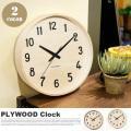 掛け時計 シャンブル プライウッドクロック CHAMBRE PLYWOOD CLOCK CH-025