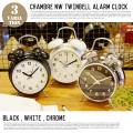 シャンブル ツインベルアラームクロック CHAMBRE NW TWINBELL ALARM CLOCK CH-031WH 置き時計