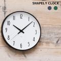 壁掛け時計シェイプリー クロックウォールクロック 時計 かけ時計 電波時計