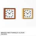 掛け時計 ブラスレクタングルクロック  ウォールクロック 時計 掛置き兼用時計 スイープセコンド