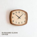 掛け時計 アールスクエアクロック ウォルナット 時計 電波時計