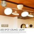 LED スポット シーリングライト 4灯ストレート LED照明 省エネ リモコン付き