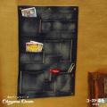 岡山デニム OKAYAMA DENIM 壁掛け収納 ウォールポケット ユーズド濃色 デニム