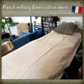 French military H.M.Linen Cotton BOX sheetsデッドストック