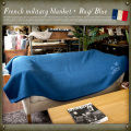 French military blanket Blue USED(ユーズド品)