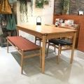 横浜店展示アウトレット20%OFF LYダイニング4点セット 4人掛け 天然木 幅135cm ナチュラルインテリア